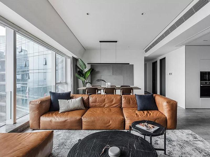 现代一体化客厅家具设计