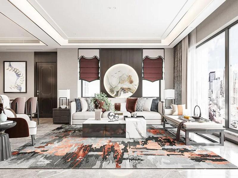新中式客厅家具效果