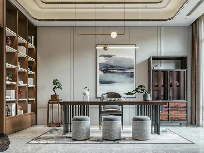 新中式组合书房家具